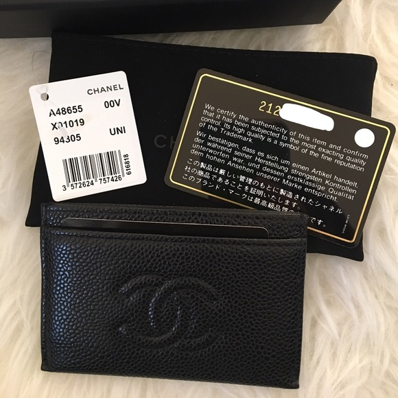 29c75423a149c3 CHANEL Bags | Black Caviar Cc Timeless Card Case | Poshmark
